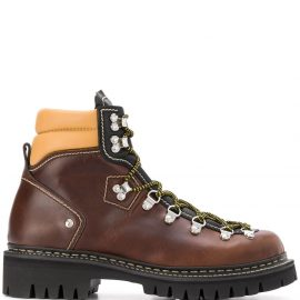 Dsquared2 chunky sole hiking boots - Brown