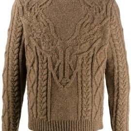 Dsquared2 dear head knitted sweater - Brown