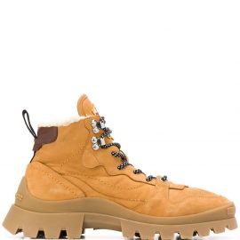Dsquared2 shearling-lined hiking boots - Brown