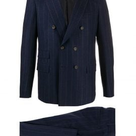 Eleventy pinstripe double-breasted two piece suit - Blue