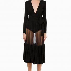 Elisabetta Franchi BX00492E2 Bodysuit and Skirt in Black