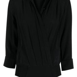Elisabetta Franchi horsebit detail silk bodysuit - Black
