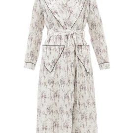 Emilia Wickstead - Amana Floral-print Cotton Robe - Womens - White Print
