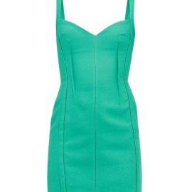 Emilia Wickstead - Fyfe Cloqué Mini Dress - Womens - Green