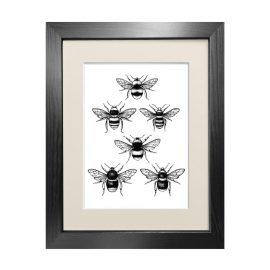 Emily Carter - 'British Bees' - Fine Art Print A5