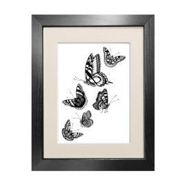 Emily Carter - 'British Butterflies' - Fine Art Print A5