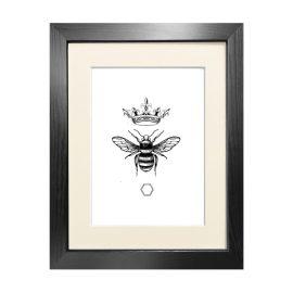 Emily Carter - 'Honey Queen Bee' Fine Art Print A4