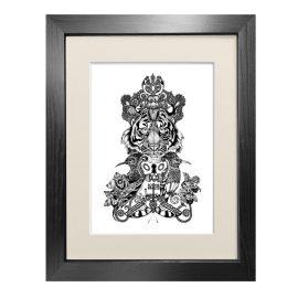 Emily Carter - 'The Royal Tiger' - Fine Art Print A5