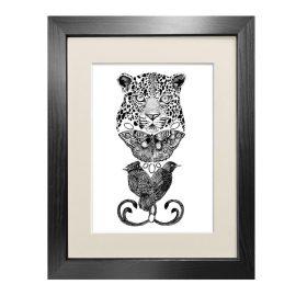 Emily Carter - 'The Tropical Leopard' - Fine Art Print A5