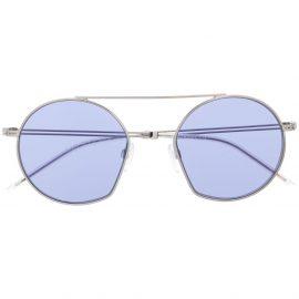 Emporio Armani G50 round frame sunglasses - SILVER