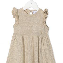 Emporio Armani Kids ruffled-trim dress - Gold