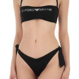 Emporio Armani Swimwear Bathing Swimsuits for Women On Sale, Black, polyamide, 2021, 6 8