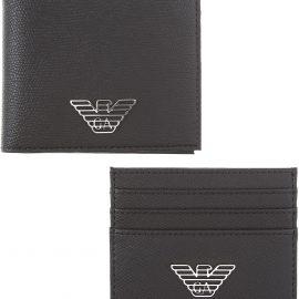Emporio Armani Wallet for Men On Sale, Black, Leather, 2021