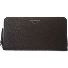 Emporio Armani Wallet for Women On Sale, Black, Leather, 2021