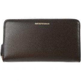 Emporio Armani Wallet for Women On Sale, Black, polyester, 2021