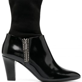 Emporio Armani sock ankle boots - Black