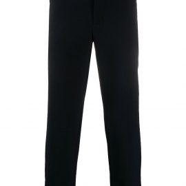 Emporio Armani tapered check trousers - Blue