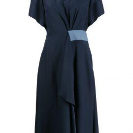 Emporio Armani v-neck midi dress - Blue