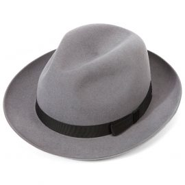 Epsom Racing Trilby Hat - Grey Silver in size 62