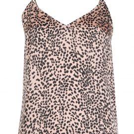 Equipment leopard print camisole top - Pink