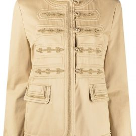 Ermanno Scervino buttoned fitted jacket - Gold