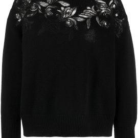 Ermanno Scervino lace-insert sweater - Black