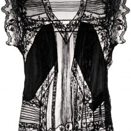 Ermanno Scervino sheer-lace silk blouse - Black
