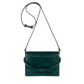 Esin Akan Midi Chelsea Clutch Bag Green Croc