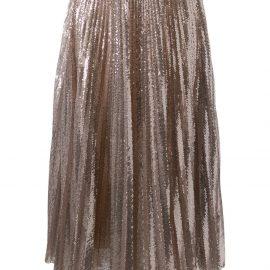 Fabiana Filippi sequin pleated skirt - GOLD