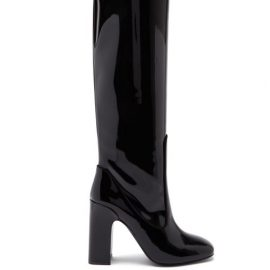 Fabrizio Viti - Farrah Knee-high Patent-leather Boots - Womens - Black