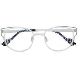 Face À Face cat-eye shaped glasses - White