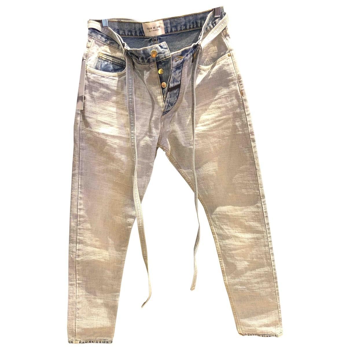 Fear Of God N Blue Cotton Jeans for Men