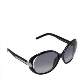 Fendi Black / Grey FS5153 Oversized Round Sunglasses