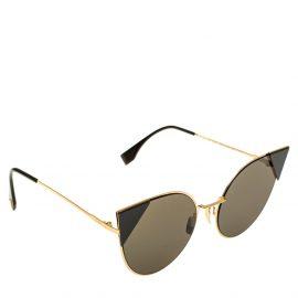 Fendi Black Mirror FF0190/S Cat Eye Sunglasses