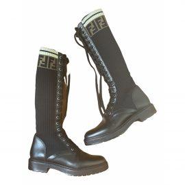 Fendi Cloth biker boots