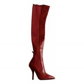 Fendi Colibri leather riding boots