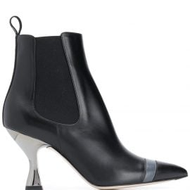 Fendi Colibrì pointed toe ankle boots - Black