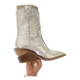 Fendi Cowboy leather ankle boots