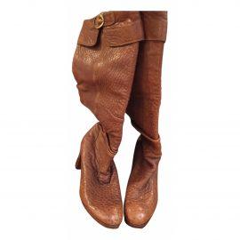 Fendi Cowboy leather riding boots