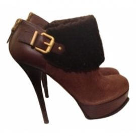 Fendi Cowboy leather snow boots