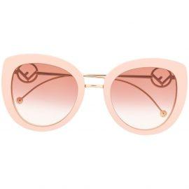 Fendi Eyewear 0409/S logo sunglasses - Neutrals