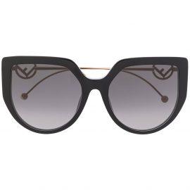Fendi Eyewear FF oversized-frame sunglasses - Black