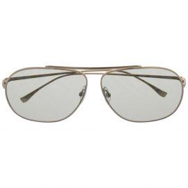 Fendi Eyewear FF-print aviator sunglasses - Gold