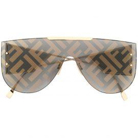 Fendi Eyewear Fabulous 2.0 rimless shield sunglasses - Gold