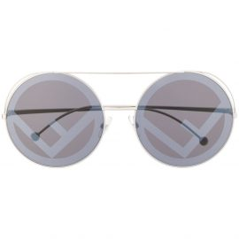 Fendi Eyewear Run Away logo sunglasses - Silver