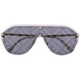 Fendi Eyewear monogram sunglasses - Grey