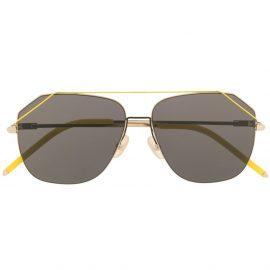 Fendi Eyewear oversized aviator sunglasses - Yellow