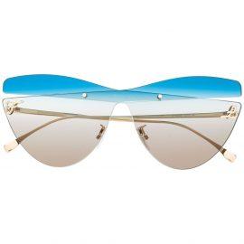 Fendi Eyewear oversized deconstructed sunglasses - Blue