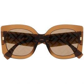 Fendi Eyewear oversized frame sunglasses - Brown