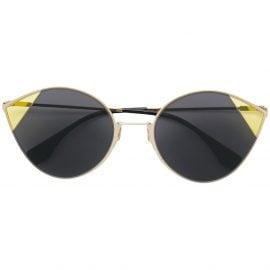Fendi Eyewear round frame sunglasses - Black